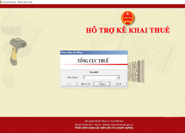 Đăng nhập phần mềm HTKK của Tổng cục thuế