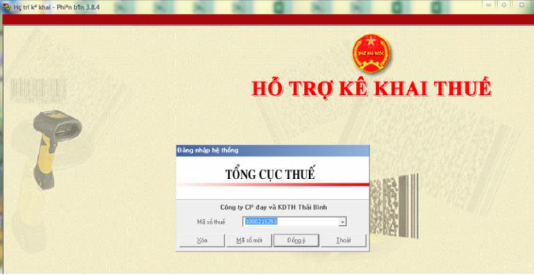 Đăng nhập phần mềm HTKK